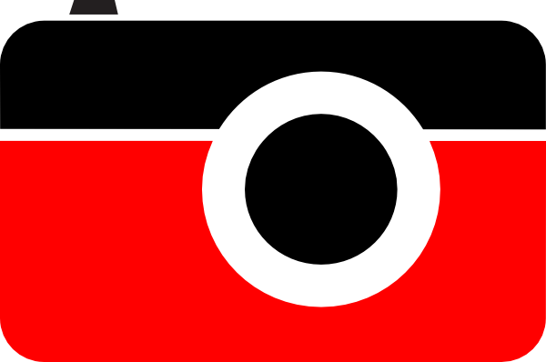600x398 Camera Red Black Clip Art