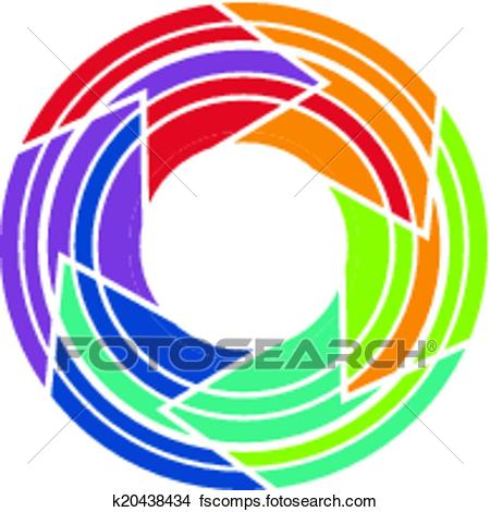 450x470 Clipart Of Abstract Colorful Camera Lens Image K20438434