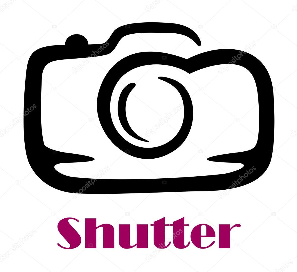 1023x938 Doodle Sketch Camera With The Word Shutter Stock Vector