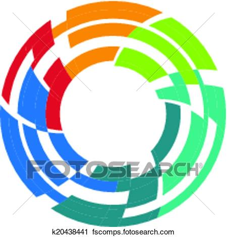 450x470 Clipart Of Abstract Colorful Camera Lens Image K20438441