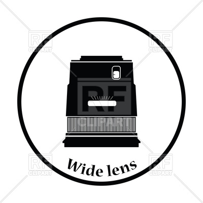 400x400 Icon Of Photo Camera Wide Lens Royalty Free Vector Clip Art Image