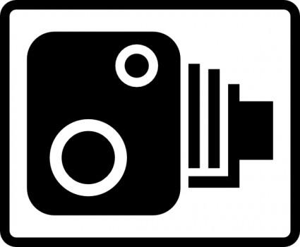 425x350 Speed Camera Sign Clip Art Vector Clip Art Free Vector Free Download