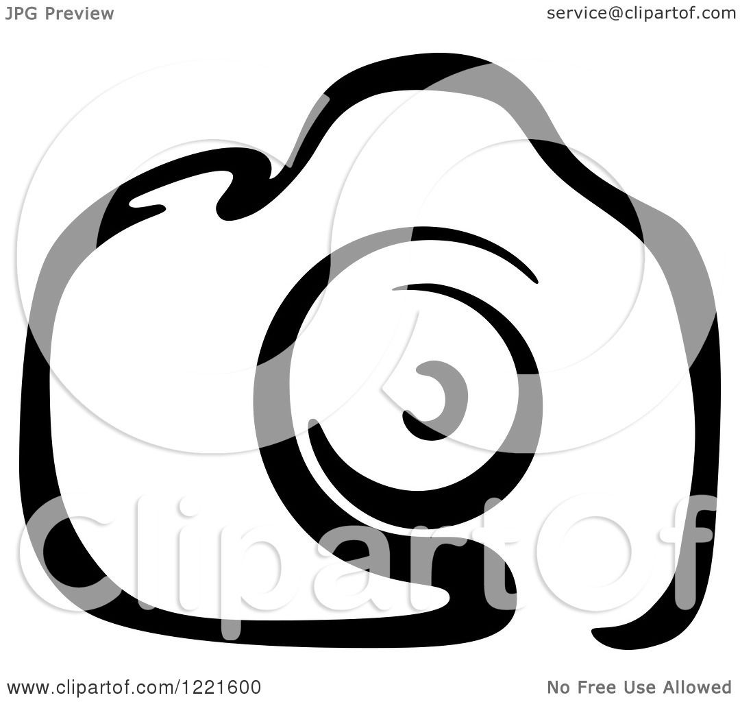 1080x1024 Clipart Of A Black And White Camera 16
