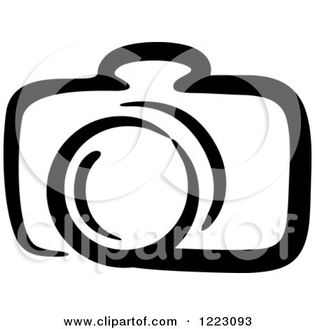 450x470 Clipart Of A Black And White Camera 21
