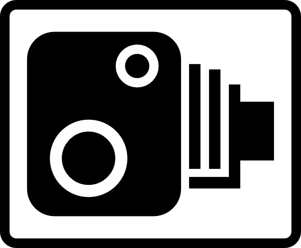 600x495 Speed Camera Sign Clip Art