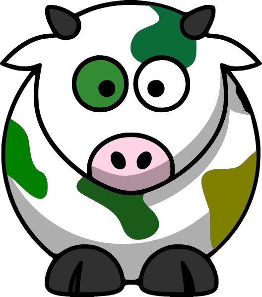 528x598 Camo Cow Clip Art
