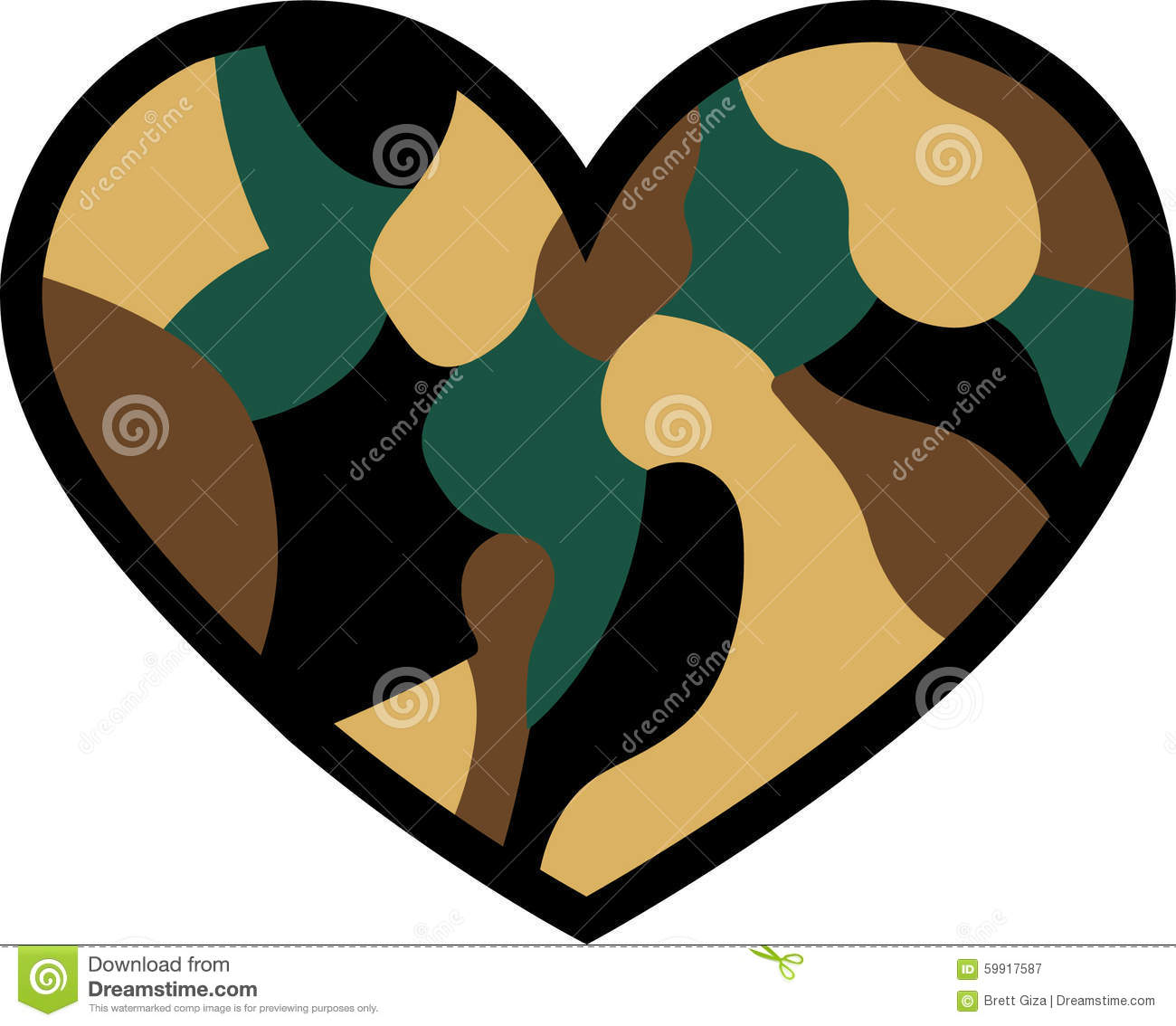 1300x1134 Camo Clipart Heart