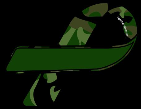 455x350 Camo Clipart Ribbon