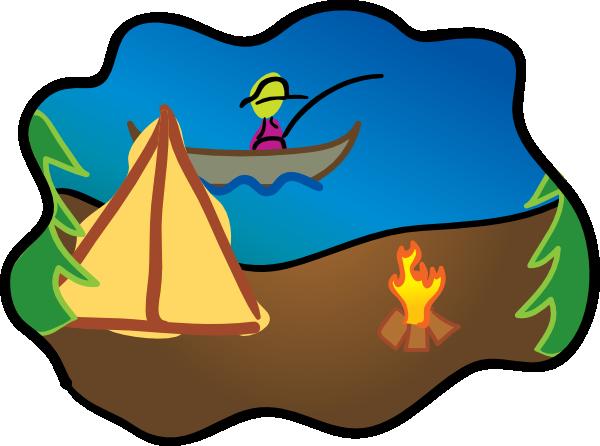 600x446 Camping Clip Art