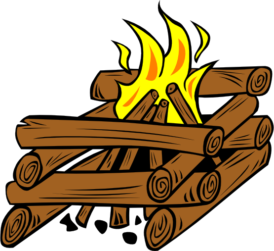 555x507 Camp Fire Clipart Outdoors