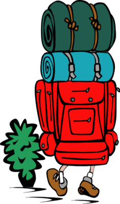 235x400 Camping Clipart Hiker