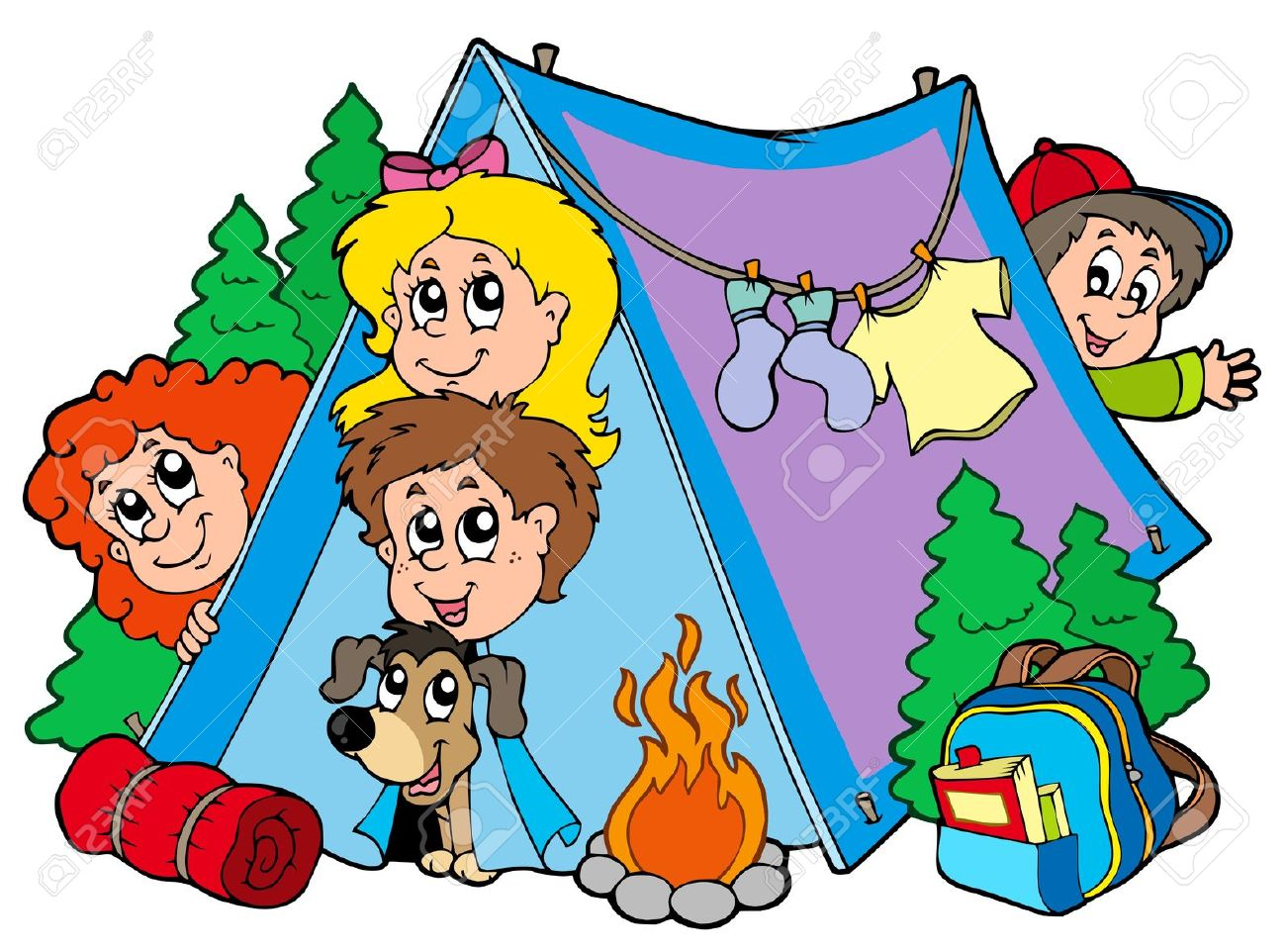 1300x962 Camping Clipart Summer Camp