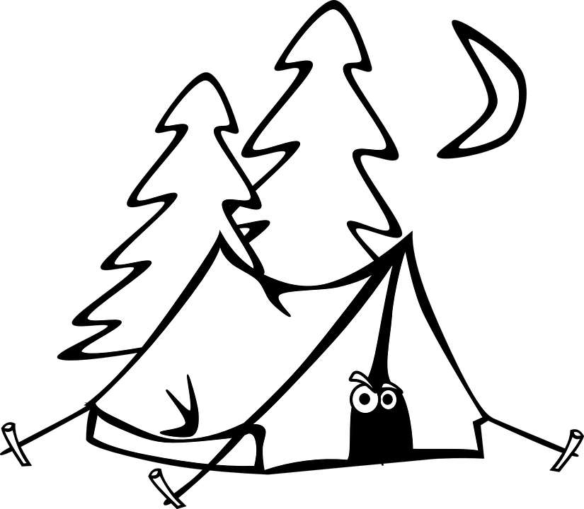 825x720 Night Clipart Camp Tent