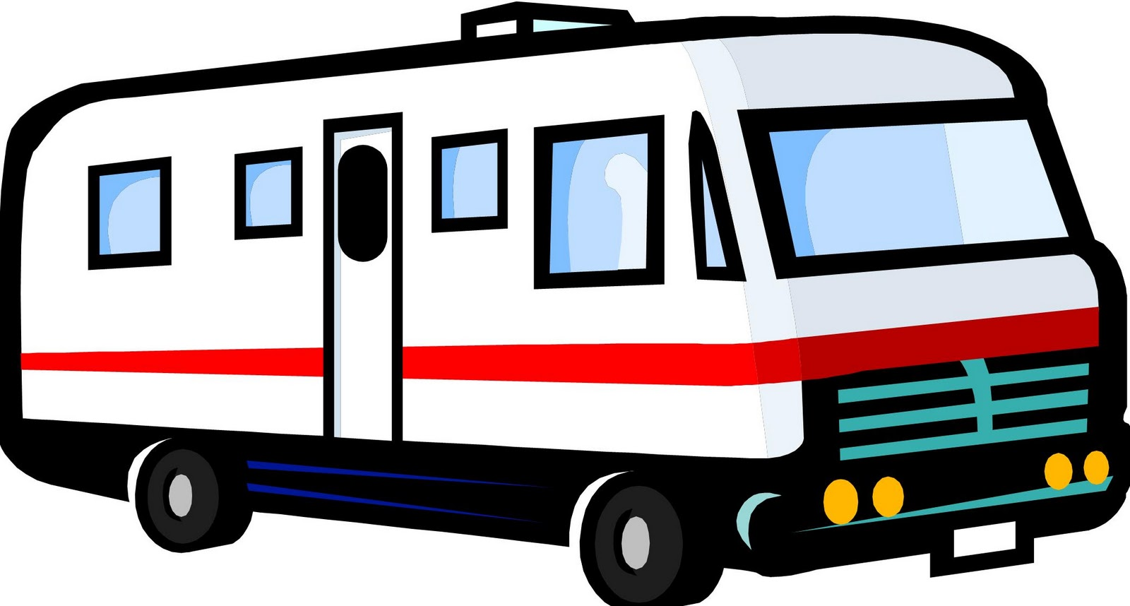 1600x858 Camper Clipart Campervan