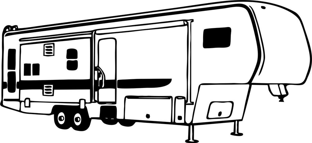 1000x460 Camper Clipart Family Camping