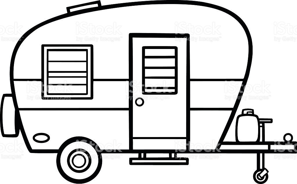 1024x635 Camper Clipart Vector