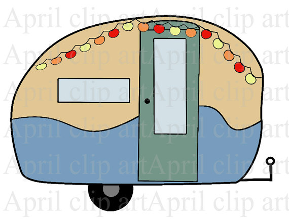 570x437 Items Similar To Camper, Travel Trailer 1, Digital Clip Art