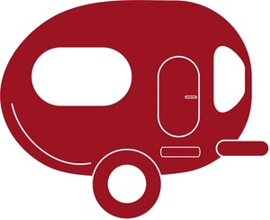 300x244 Camper Clipart Image