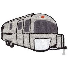 236x236 Vintage Campers Airstream Shasta Trailer Clip Art Vector