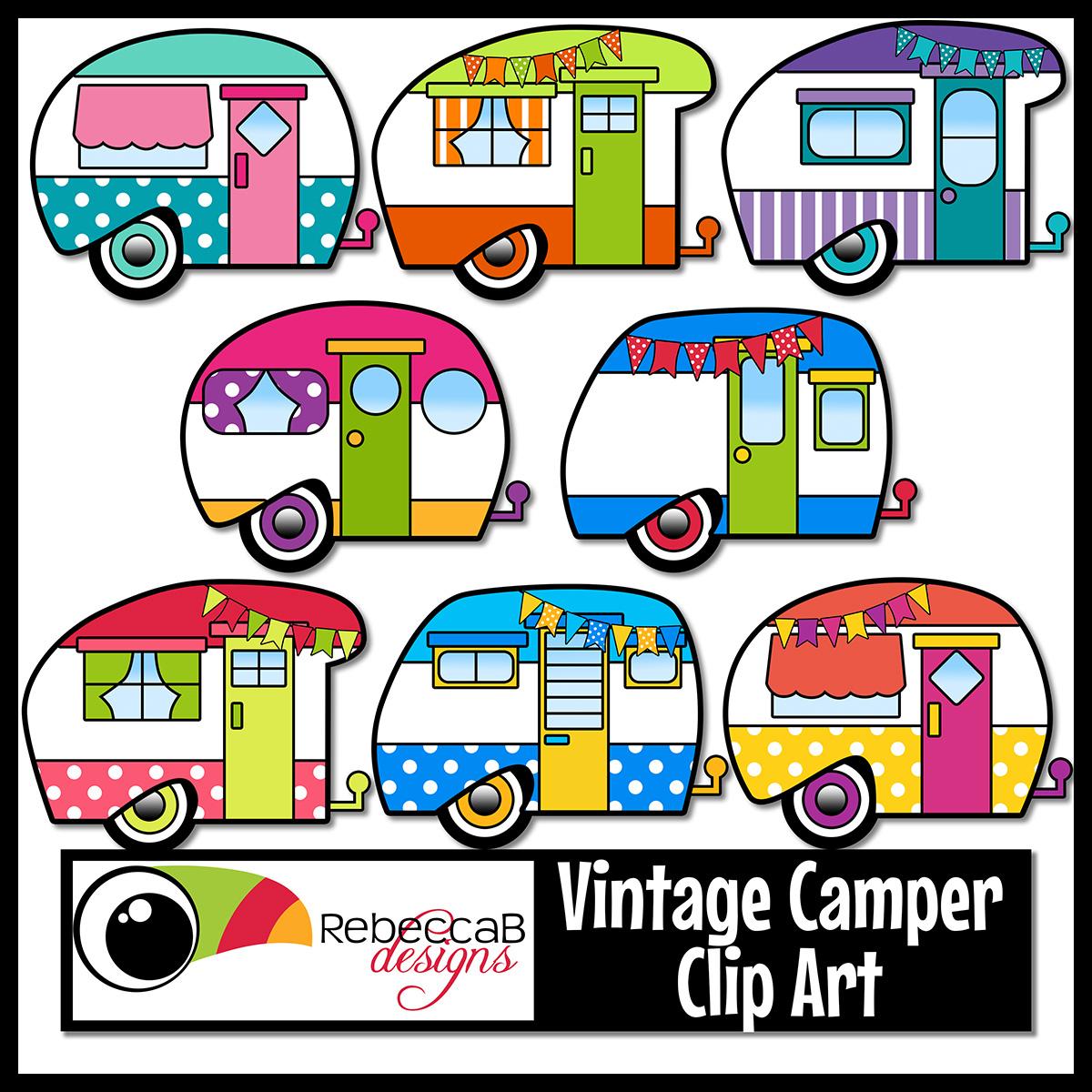 1200x1200 Vintage Retro Camper Clip Art