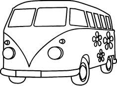 236x175 Vw Camper Van Cartoon Sketch