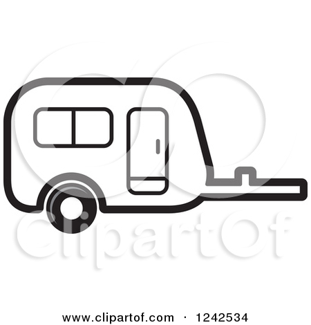450x470 Black And White Camping Clipart
