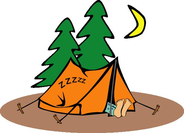 600x434 Camper Sleeping Clip Art