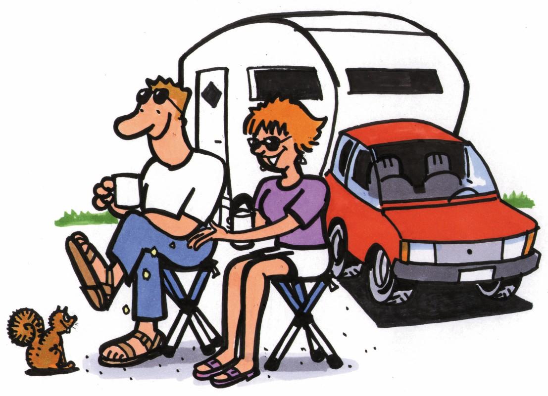 1107x801 Camper Clipart Cartoon