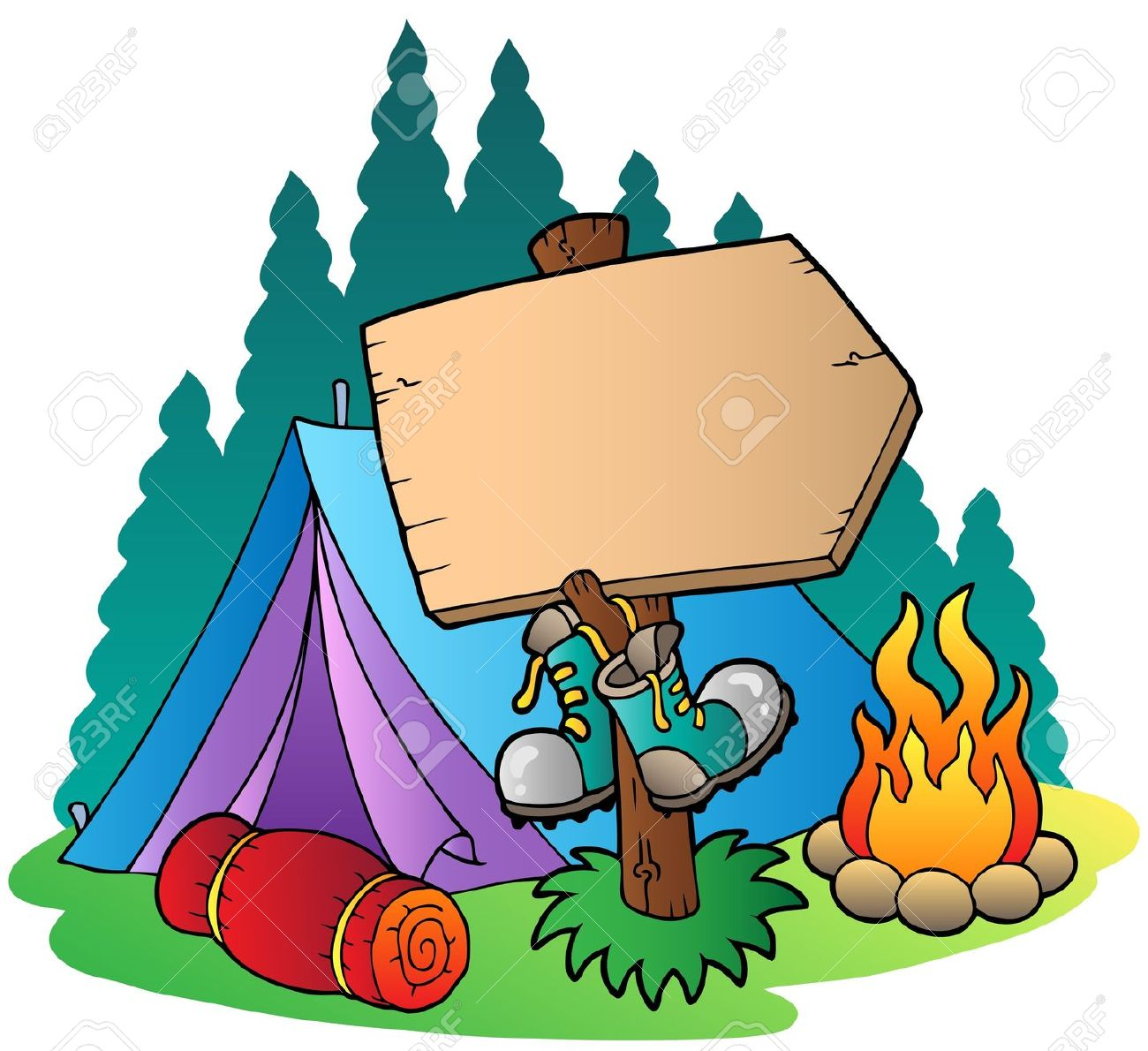 1300x1190 Free Camping Clip Art