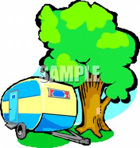 284x300 Trailer Or Camper In The Woods Or Forest