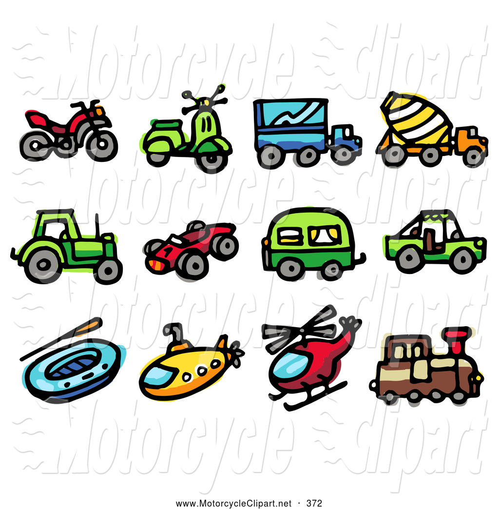 1024x1044 Transportation Clipart Of A Group Of Travel Icons Atv, Scooter