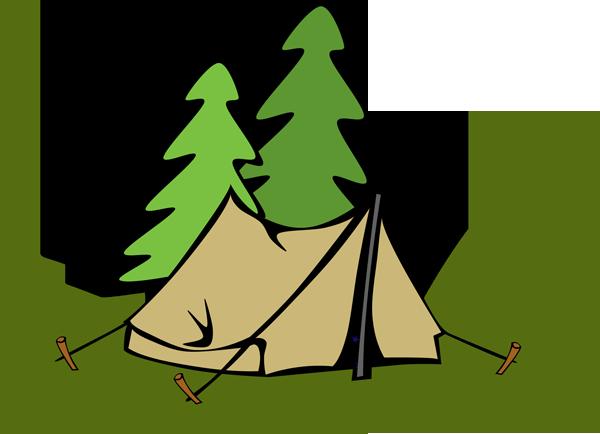 600x434 Campfire Tent Clip Art