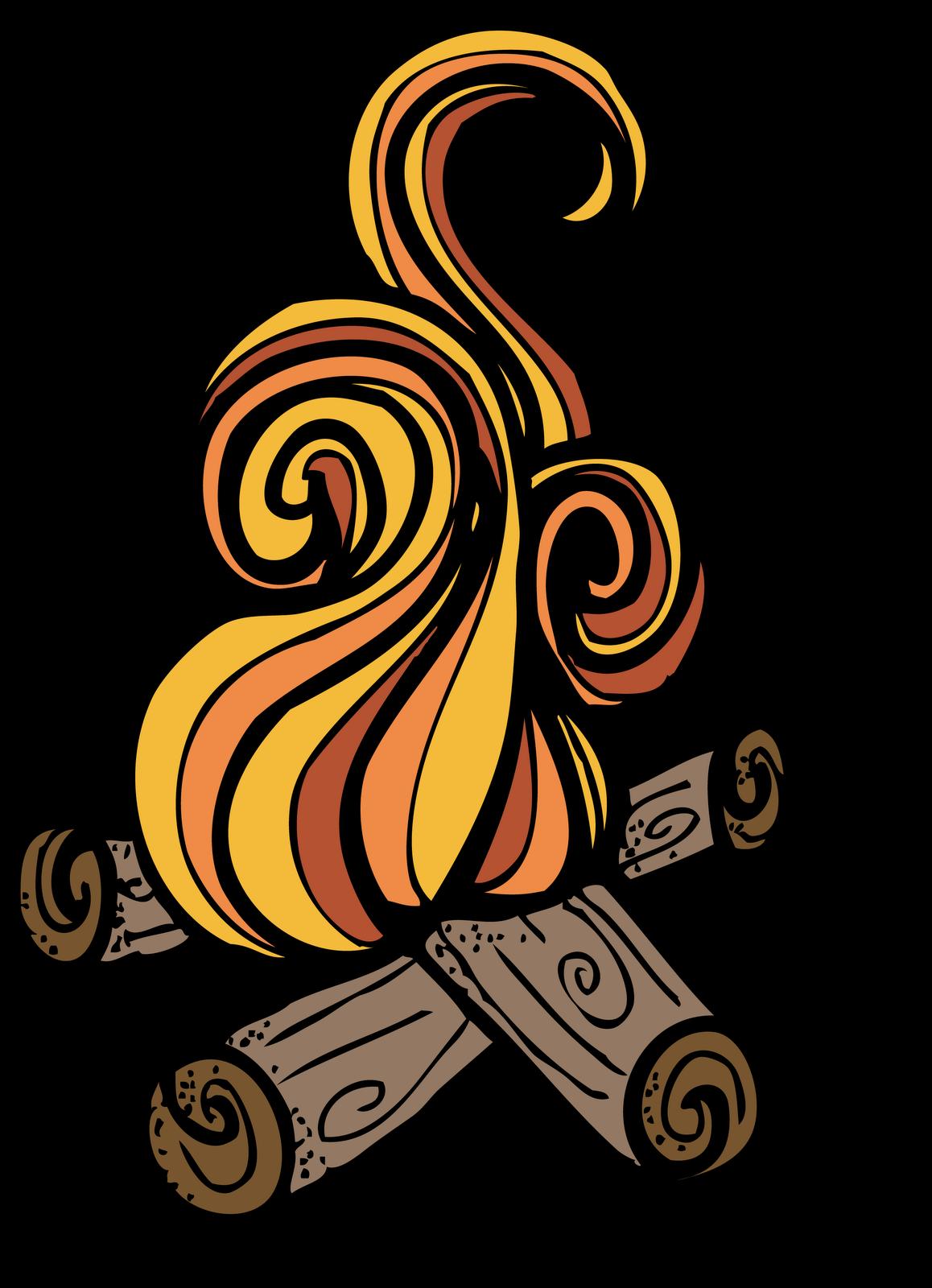 1158x1600 Campfire Camp Fire Clip Art Image
