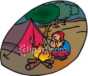 350x300 Campfire Clipart Colored