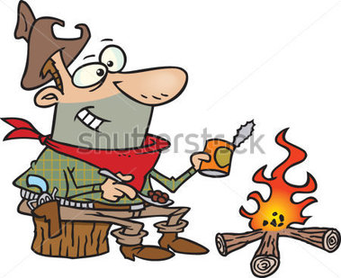 379x309 Campfire Cooking Clipart