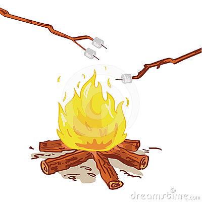 400x400 Bonfire Clipart Marshmallow