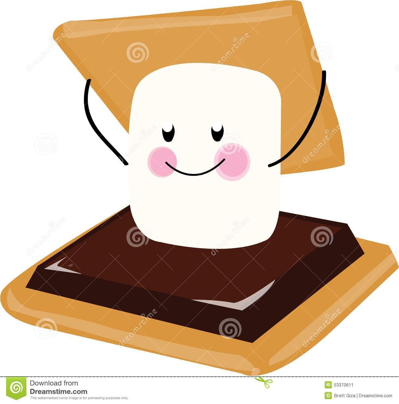 1300x1316 Marshmellow Clipart Smore