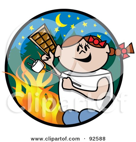 450x470 Royalty Free (Rf) Clipart Illustration Of A Happy Marshmallow