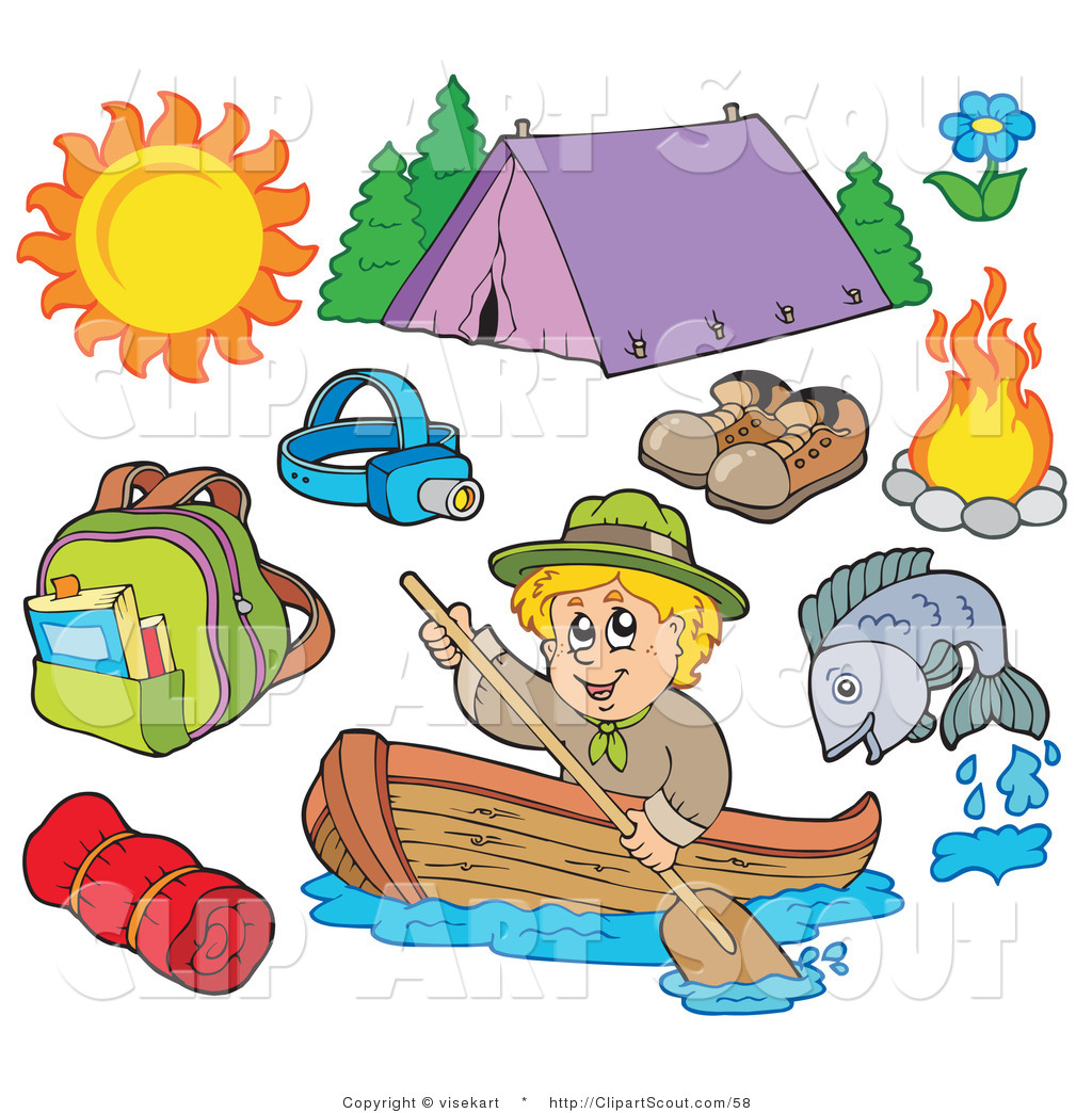 1024x1044 Collage Clipart Camping Gear