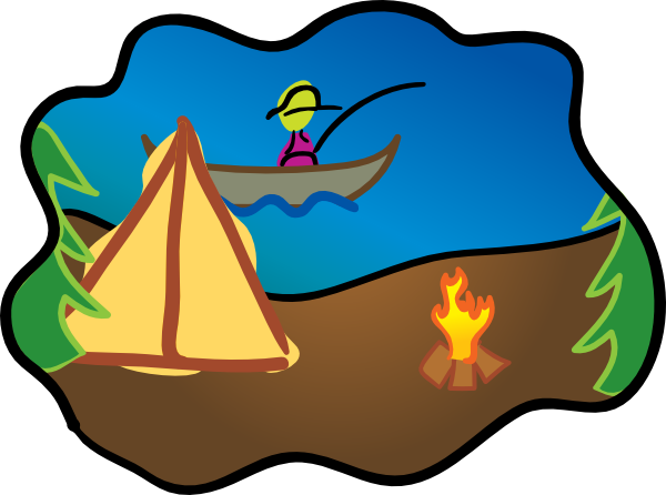 600x446 Painting Camping Clipart