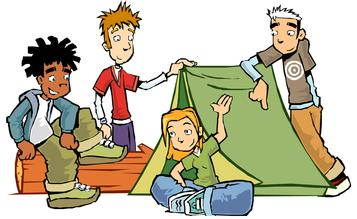 357x219 Camping Clip Art Image