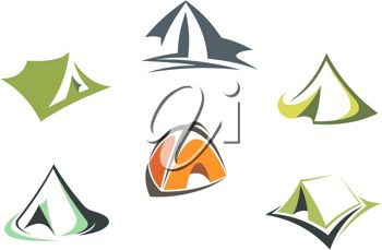 350x229 Clip Art Illustration Of Camping Tents