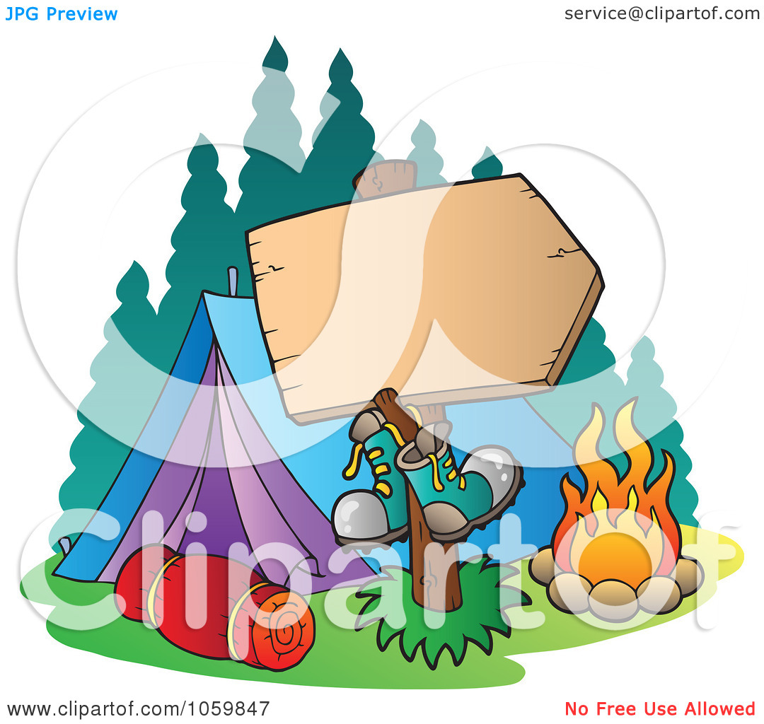 1080x1024 Family Camping Clipart