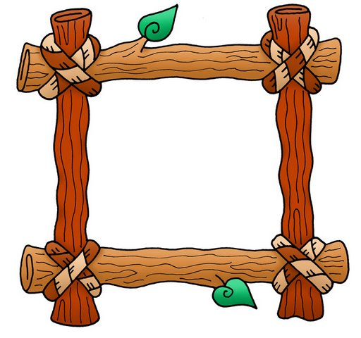 512x480 Log Frame Camping Themed Classroom Logs, Clip Art