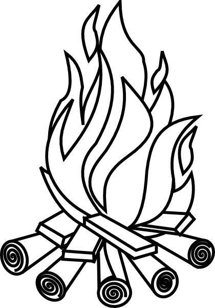 420x599 Firewood Black And White Clipart