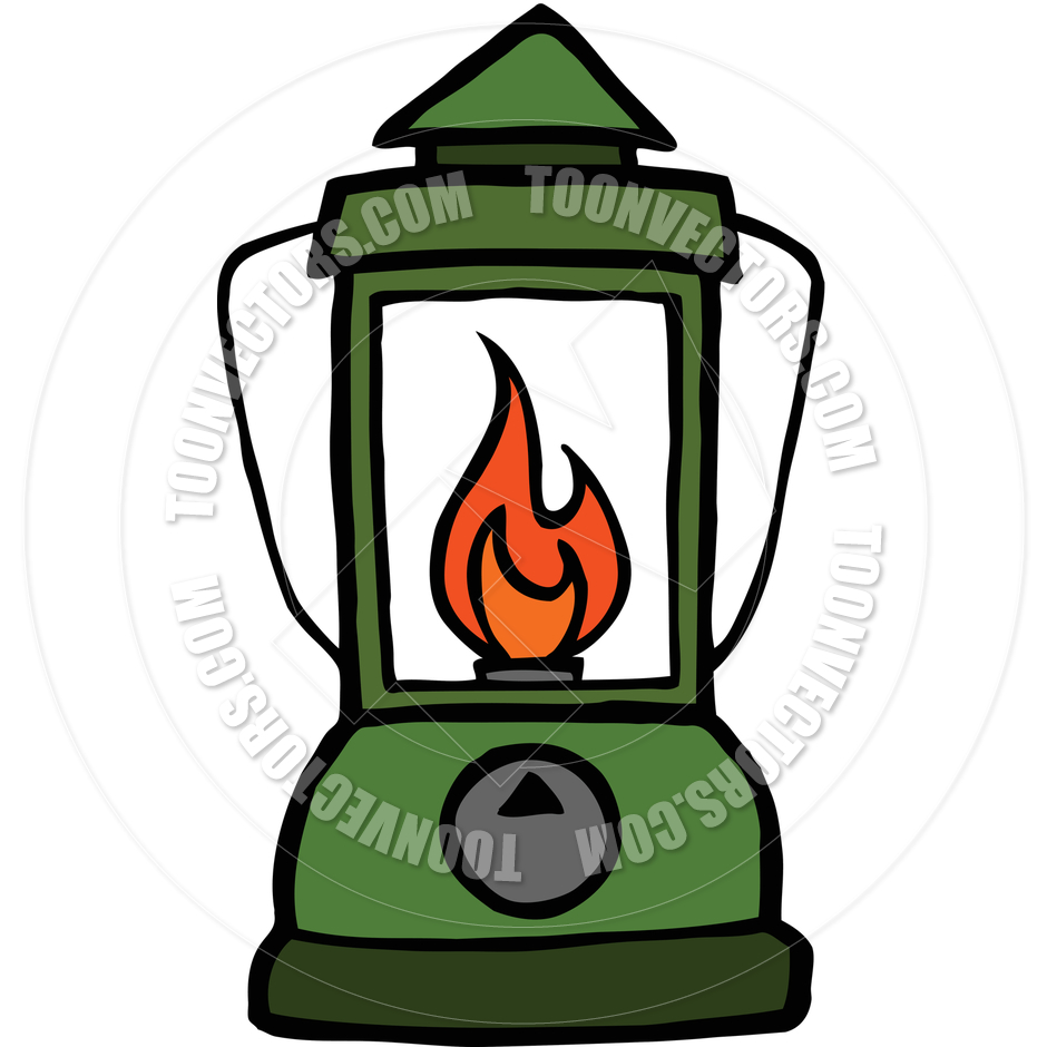 940x940 Camping Lantern Cartoon By Mike McDonald Toon Vectors EPS