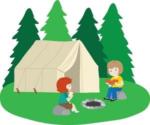 300x249 Campsite Clipart