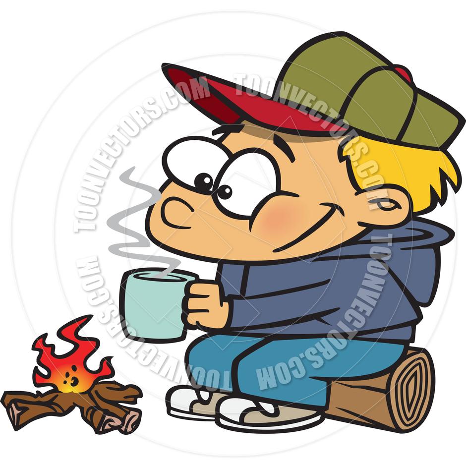 940x940 Cartoon Boy Camping By Ron Leishman Toon Vectors Eps