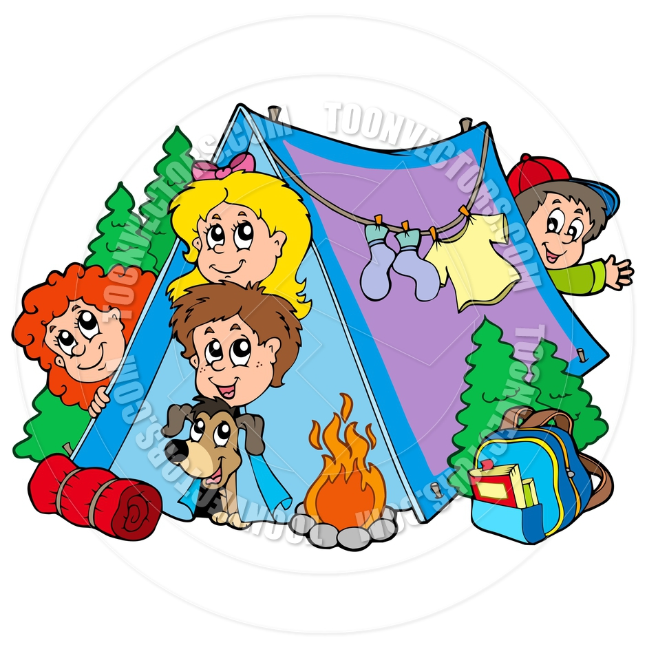 940x940 Silly Cartoon Camping Clipart
