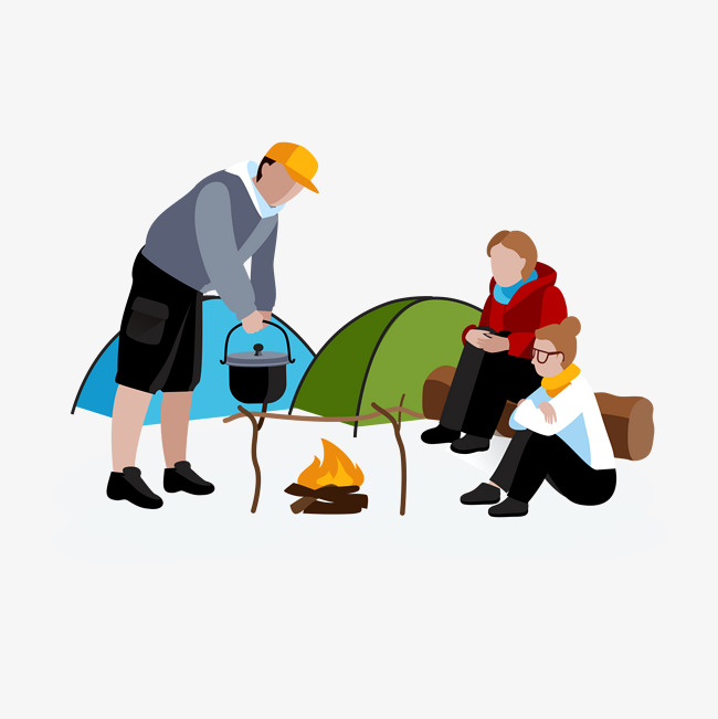 650x651 Wild Camping, Cartoon, Tent, Picnic Png Image For Free Download
